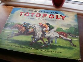 vintage totopoly board game horse racing