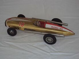 bandai golden jet japanese tin toy car