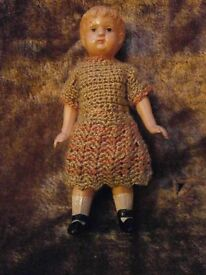 antique schildkroet celluloid doll