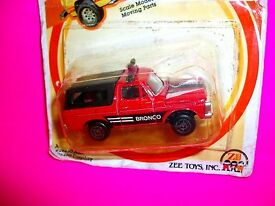 vtg 1982 zee toys red ford bronco die cast