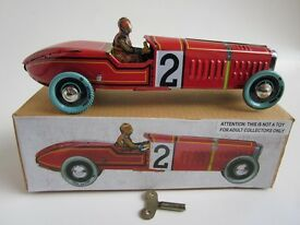 paya repro of 1930 s vtg wind up red racer