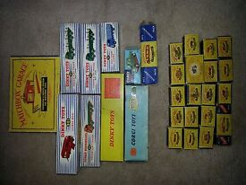 batch lot of vintage 1950s 60s matchbox