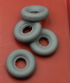 4 micro racer tires new grey rubber