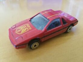 vintage 1 64 scale red pontiac fiero with