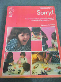 100 complete sorry board game 1973 family