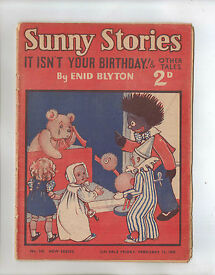 sunny stories by enid blyton with golliwog