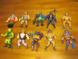 lot of 10 he man action figures 1981 1982