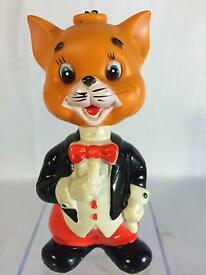 vintage alps wind up cat bobblehead toy