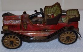 vintage line mar toys tin antique car