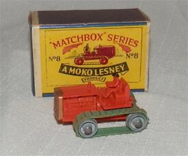 matchbox 8 a moko 50s orange caterpillar