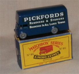 1960s matchbox 46 pickfords removal van gpw