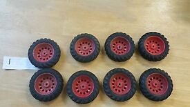 lot of 8 vintage toy truck and tractor
