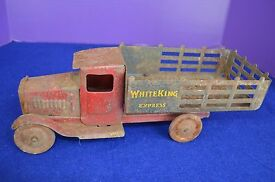 truck 1932 white king express pressed steel