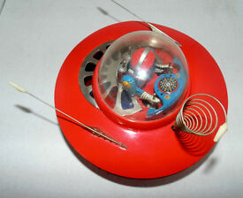 yoshia flying saucer battery operated tin
