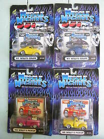 muscle machines willys lot of 4 1 64 scale