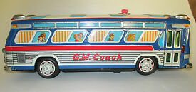 vintage rosko toy gm passenger bus made by