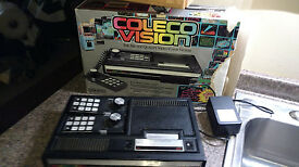 colecovision console 2 controllers ac cord