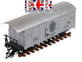 g scale gauge railway box car grey 45mm