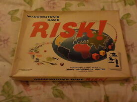 vintage 1960s risk board game complete