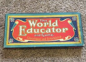 1919 antique the world educator and game w s