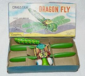 vintage cragstan dragon fly with wind up