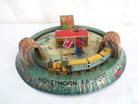 old tin marx honeymoon express vintage wind