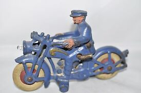 hubley cast iron police motorcycle working