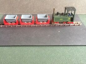 playcraft jouef p10 loco and 3 tipper wagons