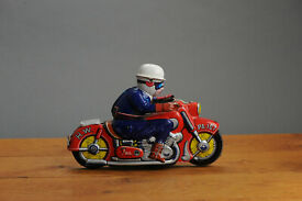 antique tin toy asahi rare toy japan working