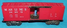 marx train operating mail box car marlines