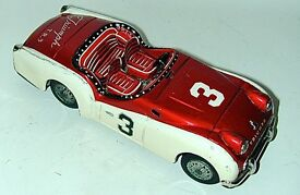 triumph t r 3 lithographed tin toy car japan