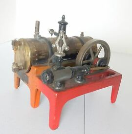 vtg 14 horizontal steam engine 1930s riveted