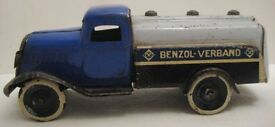 beautiful antique tin toy benzol verband