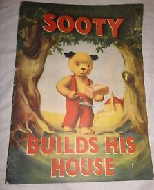 vintage ariel s sooty builds his house book