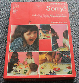vintage sorry game 1970s waddingtons games