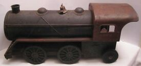 big antique pressed steel toy train