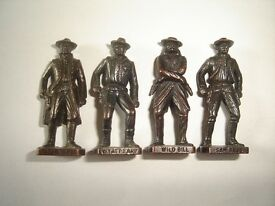 metal figurines set famous cowboys old