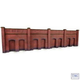 pn145 metcalfe n scale retaining wall in red