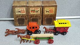 rare 3 vintage diecast or lead toy antique
