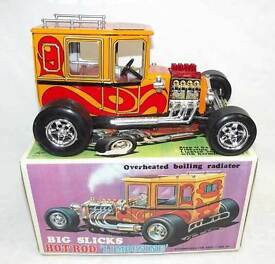big slicks hot rod limousine battery op tin