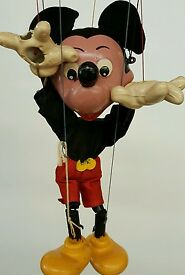 mickey mouse marionette vintage excellent w