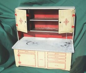 tin cupboard cabinet toy litho from the
