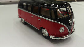 volkswagen classical bus1962 red black toy