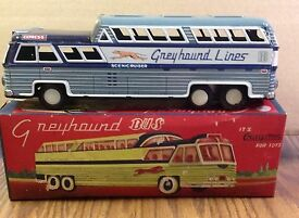 greyhound express 11 inch long friction bus