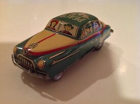 asahi toy vintage tin friction peace car