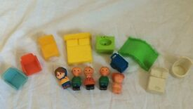 vintage other play family figurines and