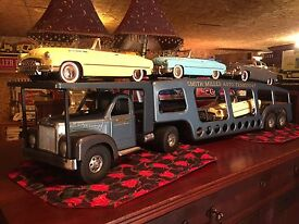 smith miller auto carrier with cars and box