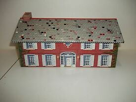 vintage marx tin litho 2 story house mansion