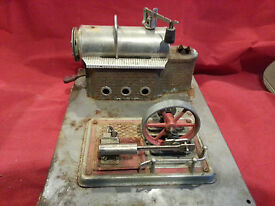 vintage wilesco toy steam engine for parts