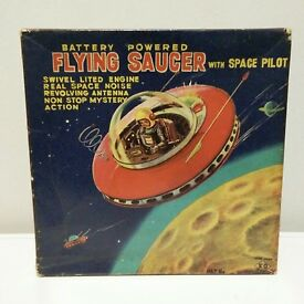 1960s yoshiya space patrol flying saucer w